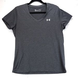 Under armour l grey athletic shirt